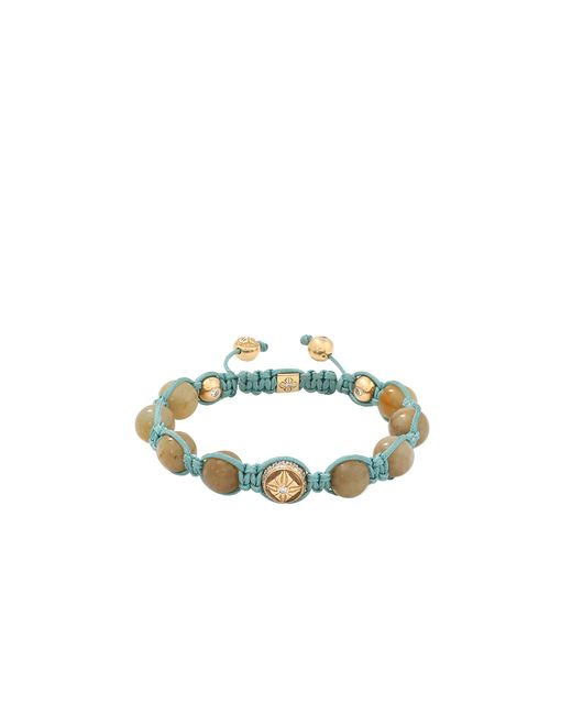 Shamballa Jewels | Metallic Yellow Sapphire Beaded Bracelet | Lyst