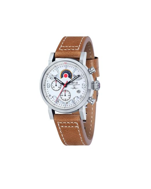AVI-8 | Brown AV-4041-01 Hawker Hurricane Leather-Strap Watch for Men | Lyst