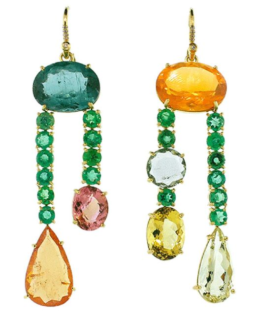 Irene Neuwirth Multicolor One Of A Kind Earrings