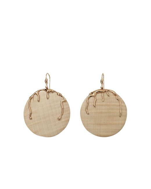 Lucifer Vir Honestus | Natural Maple Wood Disc Earrings | Lyst