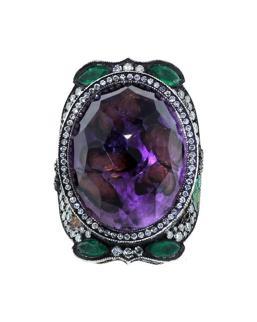 Sevan Biçakci | Metallic Butterfly Garden Amethyst Ring | Lyst