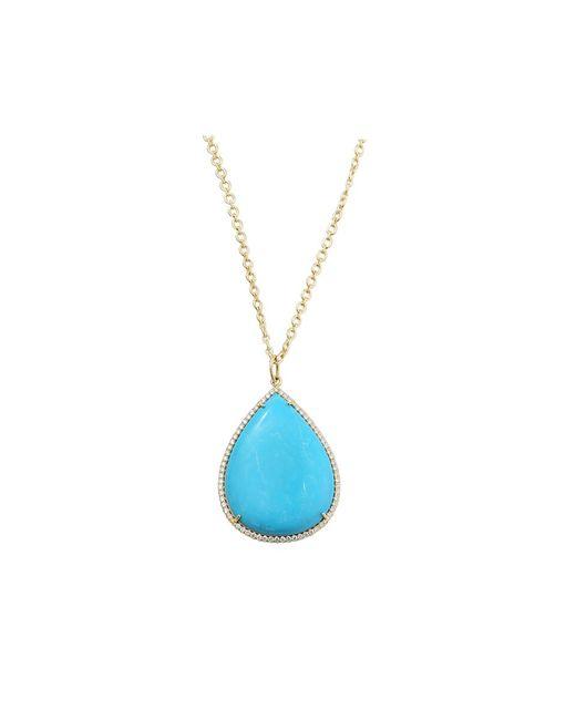 Irene Neuwirth - Blue Pear Shape Turquoise Necklace - Lyst