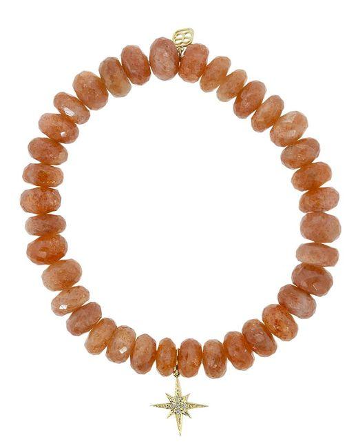 Sydney Evan Brown Starburst Charm Bracelet