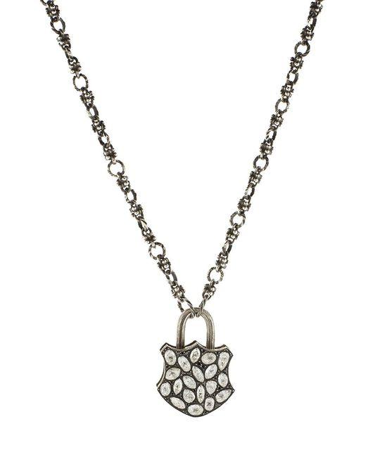 Sevan Biçakci - Multicolor Large Rose Diamond Lock Pendant - Lyst