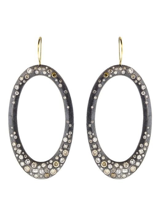 Todd Reed - Metallic Diamond Pave Drop Earrings - Lyst