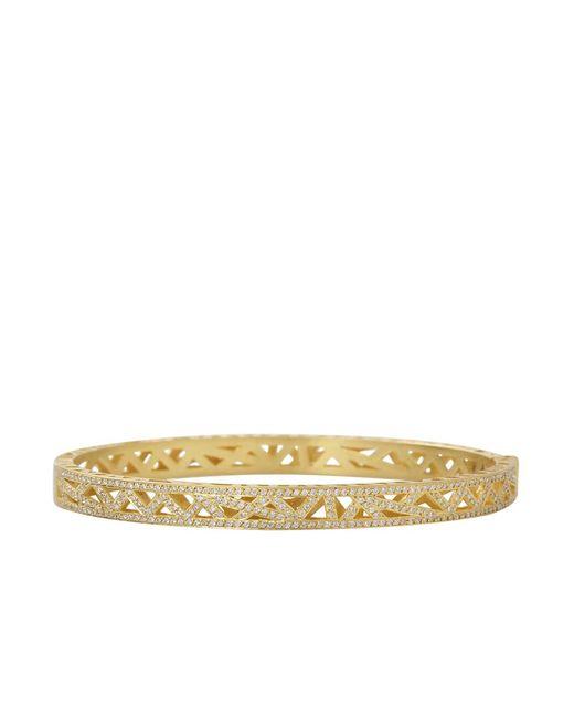 Yossi Harari - Metallic Diamond Pave Lace Cuff Bracelet - Lyst