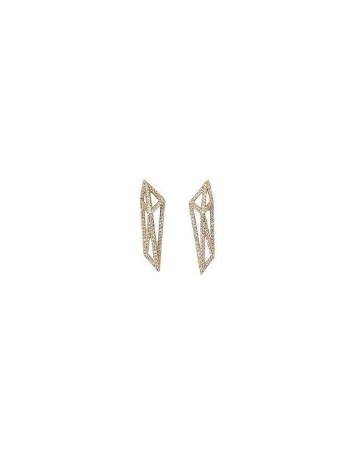 Monique Péan | Metallic Geometric Signature Cage Earrings | Lyst