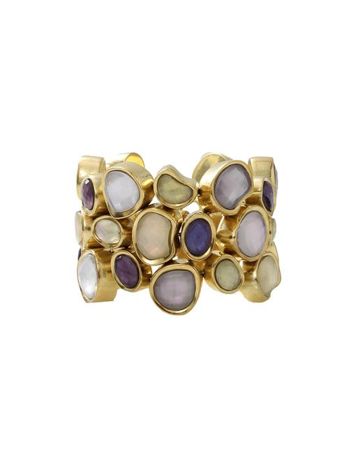 Vaubel - Metallic Stone Fill Pebble Bracelet - Lyst