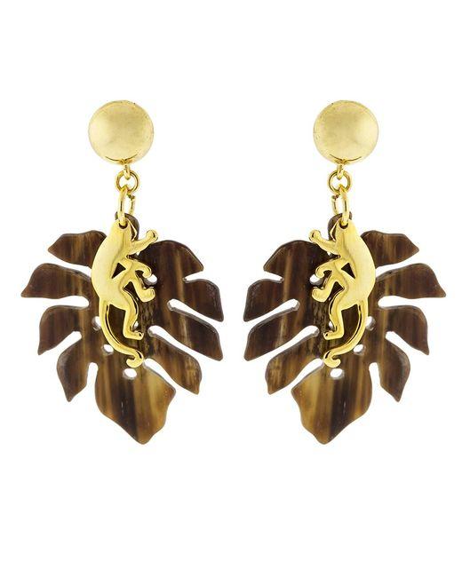 Oscar de la Renta | Metallic Small Jungle Horn Earrings | Lyst