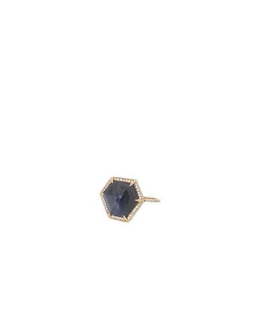 Monique Péan | Hexagonal Blue Sapphire And White Diamond Ring | Lyst