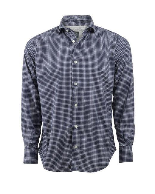 Eleventy   Blue Plaid Collared Shirt for Men   Lyst