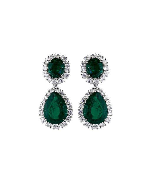 Fantasia Jewelry   Green Oval Drop Earrings   Lyst