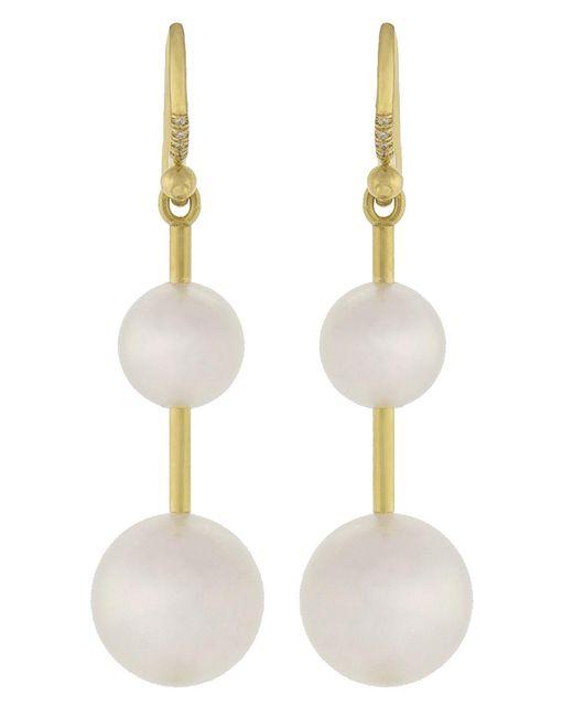 Irene Neuwirth - Multicolor Akoya Pearl And Diamond Drop Earrings - Lyst