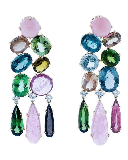 Irene Neuwirth | Multicolor One Of A Kind Chandelier Earrings | Lyst