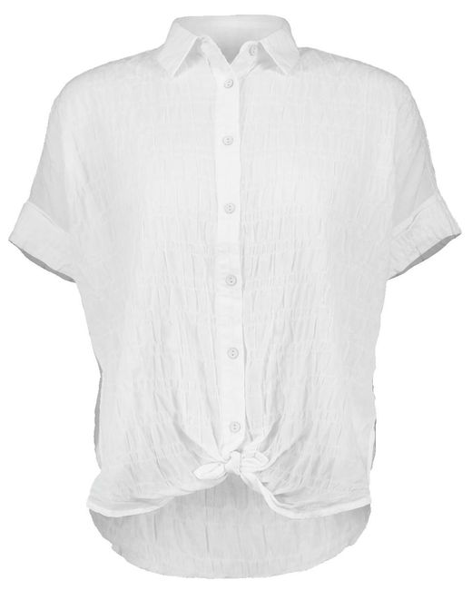Rag & Bone - White Tie Front Blouse - Lyst