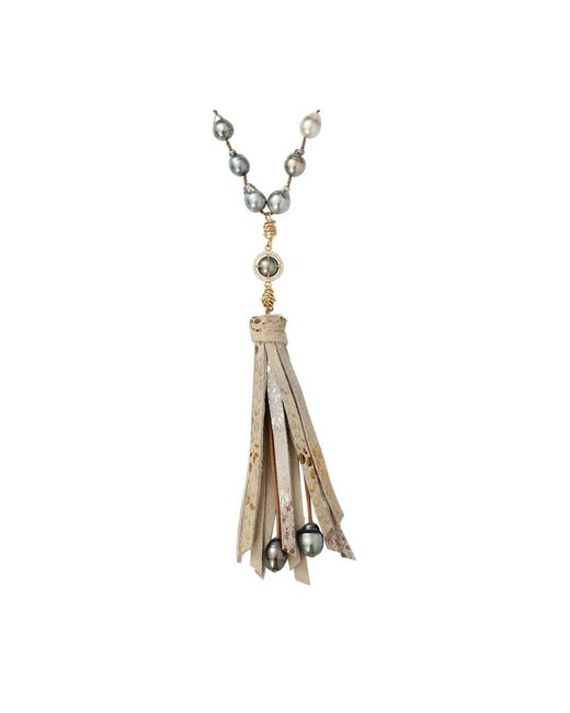 Jordan Alexander   Metallic And Tahitian Pearl Necklace   Lyst