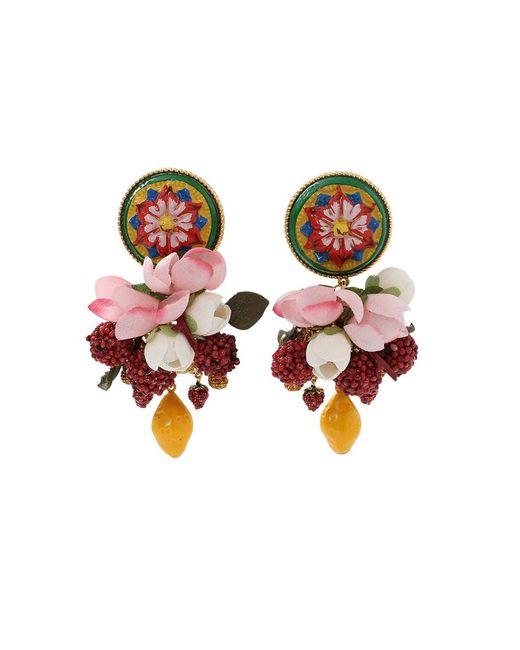 Dolce & Gabbana | Pink Ornate Earrings | Lyst