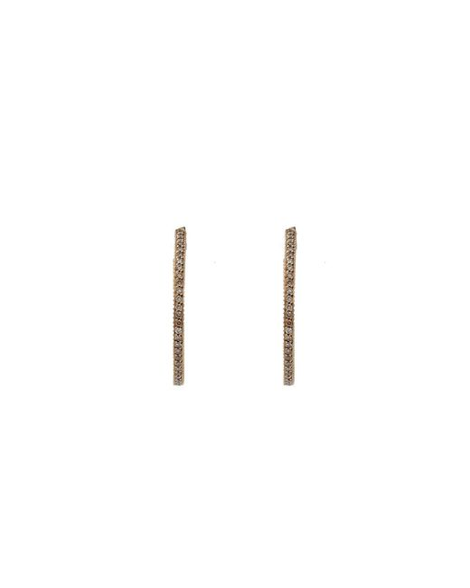 Yossi Harari | Brown Lilah Cognac Diamond Pave Hoop Earrings | Lyst
