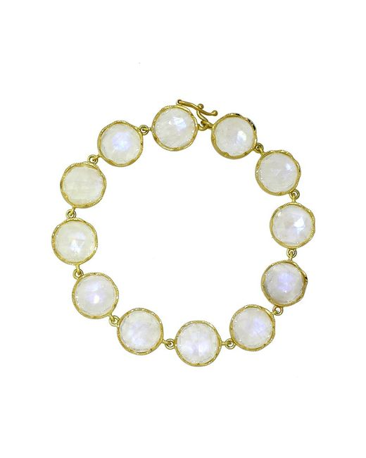 Irene Neuwirth - White Rose Cut Rainbow Moonstone Bracelet - Lyst