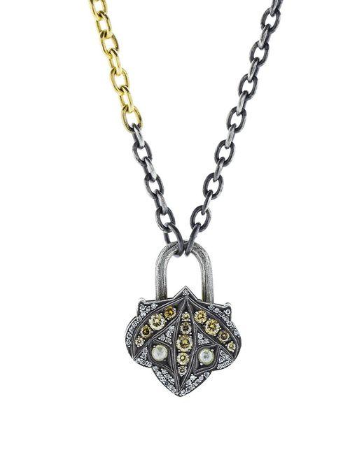 Sevan Biçakci | Metallic Lantern Mixed Diamond Lock Pendant | Lyst