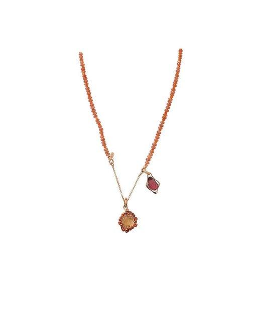 Federica Rettore - Metallic Semi D'amore Necklace - Lyst