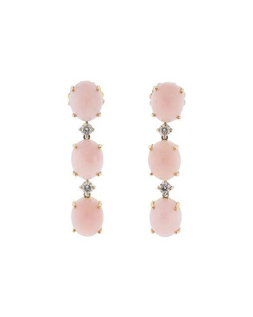 Irene Neuwirth - Pink Opal And Diamond Earrings - Lyst