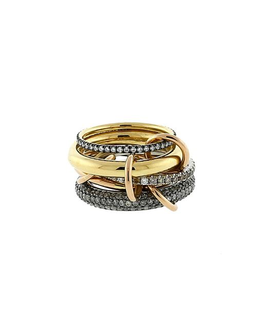 Spinelli Kilcollin - Metallic Plexus Five Link Diamond Pave Rings - Lyst