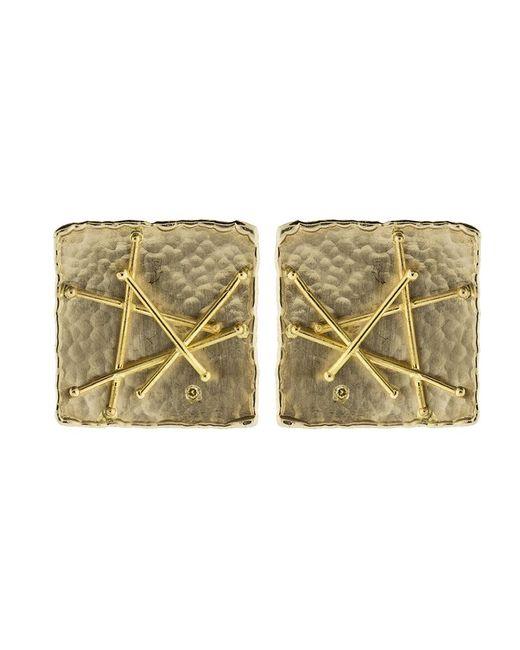 Boaz Kashi - Multicolor Square Criss Cross Stud Earrings - Lyst
