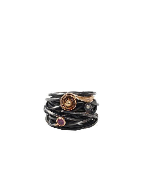 Boaz Kashi - Metallic Tourmaline Wire Wrap Ring - Lyst