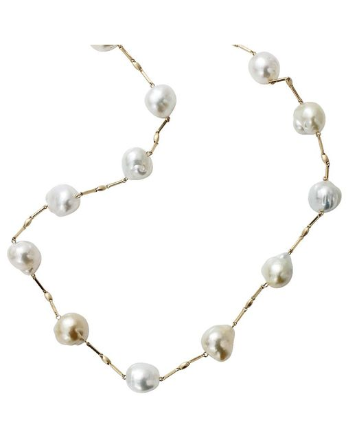Yvel Blue South Sea Pearl Station Necklace