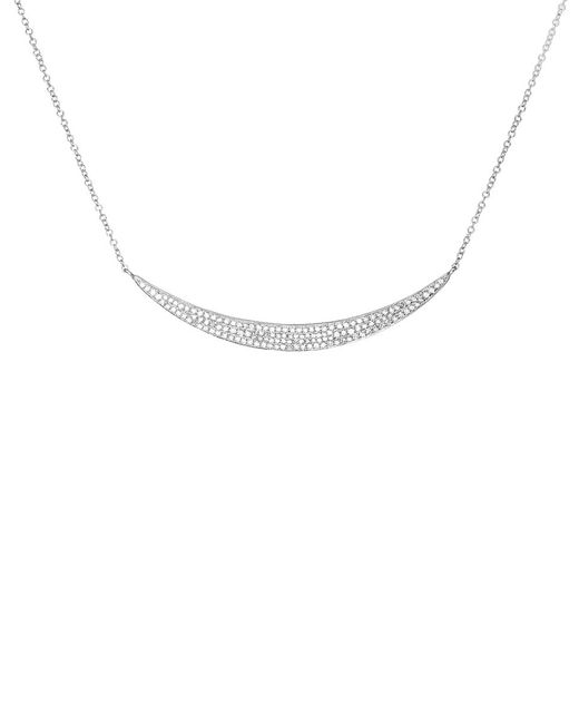EF Collection - Metallic Diamond Jumbo Crescent Necklace - Lyst