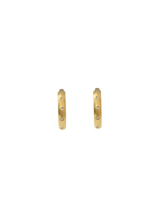 Yossi Harari - Yellow Small Mica Diamond Hoop Earrings - Lyst