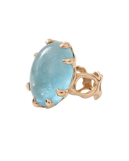 Lucifer Vir Honestus - Blue Aquamarine Chicco Ring - Lyst
