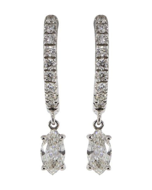 Anita Ko - Multicolor Marquis Diamond Huggies - Lyst