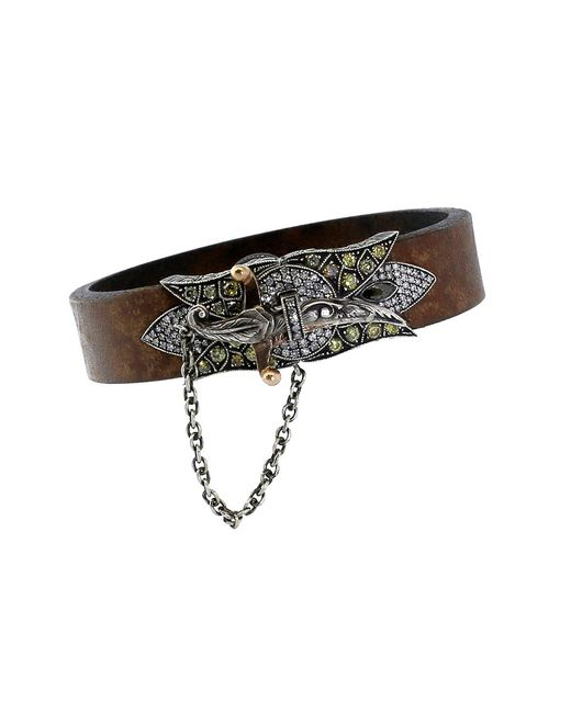 Sevan Biçakci | Multicolor Sword Clasp Leather Bracelet | Lyst