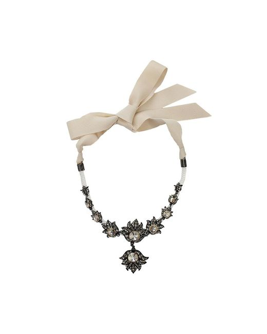 Lanvin - Metallic Blanche Short Necklace - Lyst