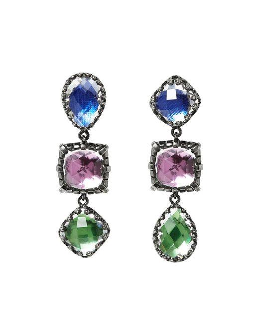 Larkspur & Hawk | Metallic Sadie 3 Drop Earrings | Lyst