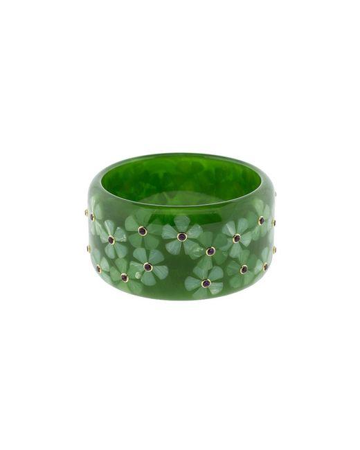 Mark Davis - Green Flower Bakelite Bangle - Lyst