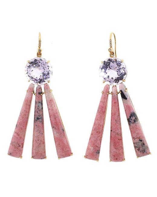 Irene Neuwirth - Kunzite And Pink Opal Earrings - Lyst