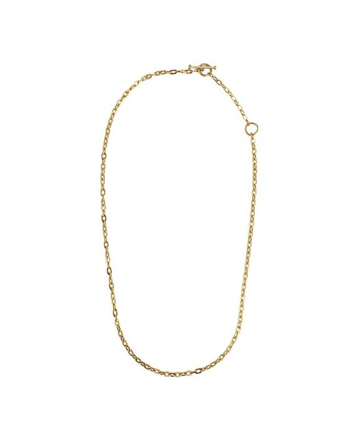 Annie Fensterstock - Metallic Adjustable Oval Link Necklace - Lyst