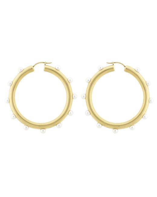 Irene Neuwirth - Metallic Akoya Pearl Hoop Earrings - Lyst
