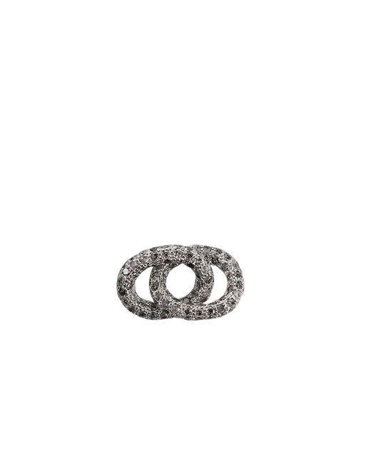 Carolina Bucci - Metallic Grey Diamond Double Links - Lyst