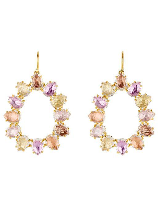 Larkspur & Hawk - Metallic Caterina Small Frame Bellini Earrings - Lyst