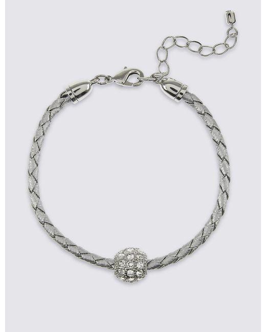 Marks & Spencer | Multicolor Pavé Ball Plaited Bracelet Made With Swarovski® Elements | Lyst