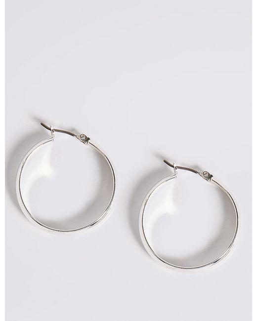 Marks & Spencer - Metallic Silver Plated Hoop Earrings - Lyst