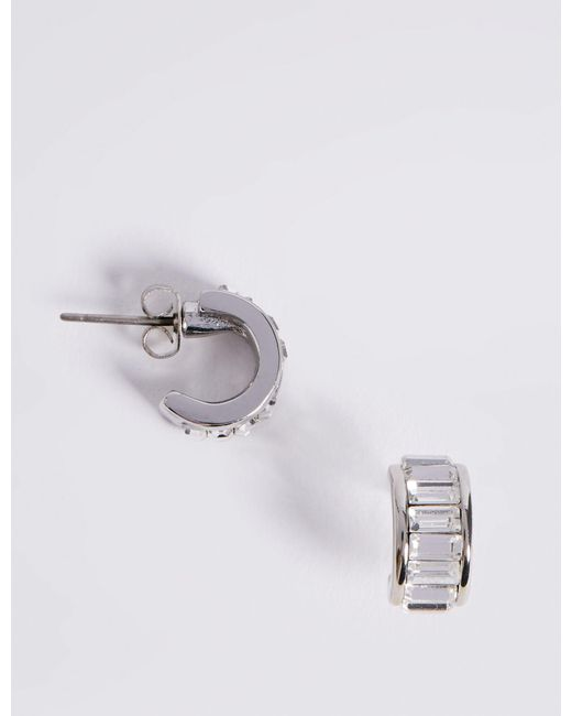 Marks & Spencer - Multicolor Hoop Earrings With Swarovski® Crystals - Lyst