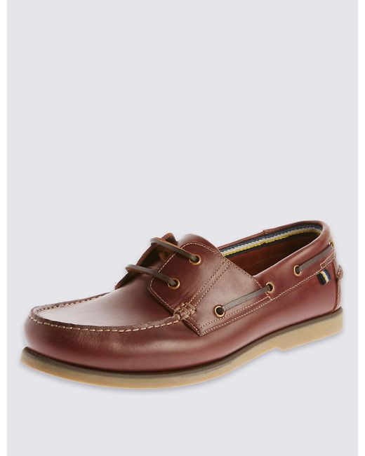 Marks And Spener Leather Deck Shoes