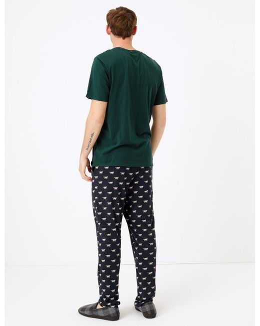 M/&S COLLECTION CORAL MIX NEON STRIPED /& RIBBED PYJAMAS