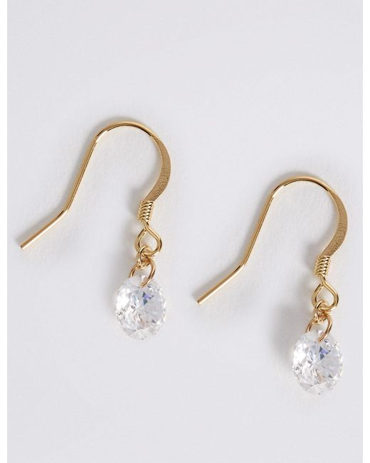Marks & Spencer - Metallic Bling Drop Earrings - Lyst