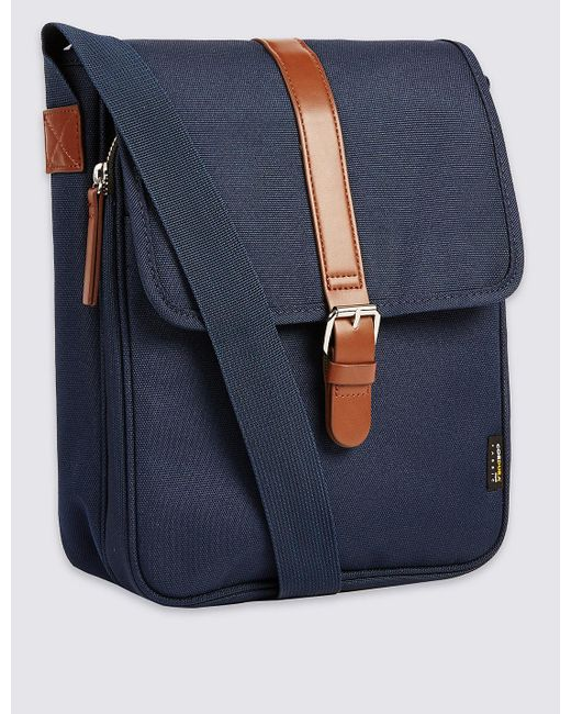 Marks & Spencer | Blue Scuff Resistant Cordura® Crossbody Bag for Men | Lyst
